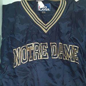 Notre Dame pullover windbreaker